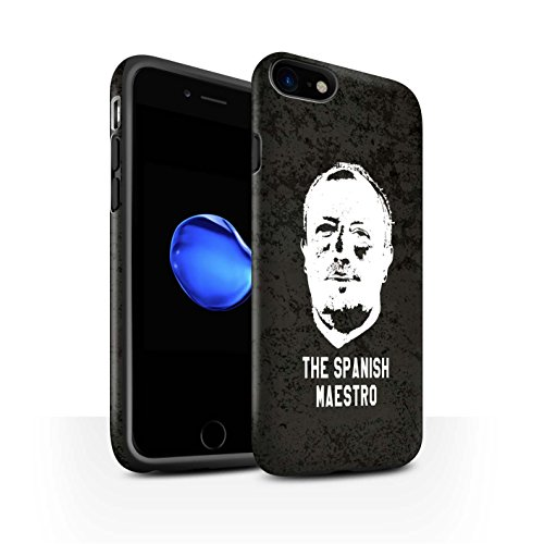 Officiel Newcastle United FC Coque / Matte Robuste Antichoc Etui pour Apple iPhone 7 / Bienvenue Design / NUFC Rafa Benítez Collection Maestro Espagnol