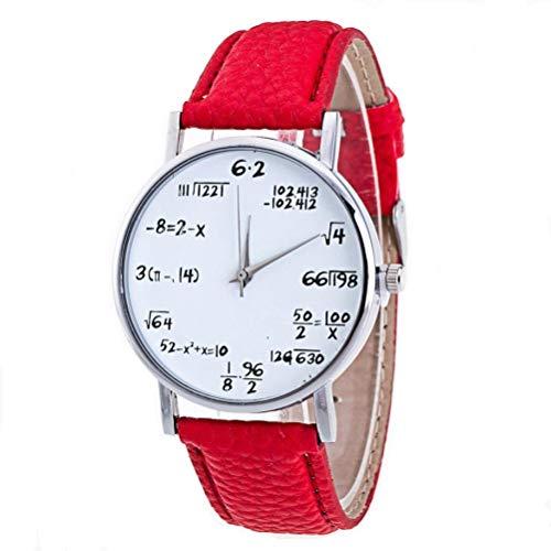 (Amoy.B Einfache und Stilvolle Persönlichkeit Addition, Subtraktion, Multiplikation und Division Gürtel Uhr * 1 (red B))