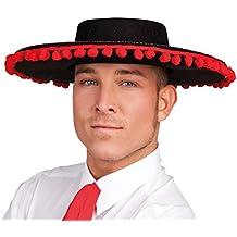 Boland 04005 - sombrero adulto Espagnol, un tamaño, Negro / Rojo