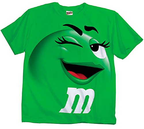m-m-m-ms-candy-silly-character-face-adultes-t-shirt-pour-femme-vert-x-small