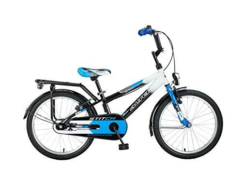 """Altec 20\"""" 20 Zoll Kinder Kinderfahrrad City Jungen Fahrrad Bike Rad Kinderfahrrad Citybike Cityfahrrad Rücktrittbremse Stitch SCHWARZ BLAU"""