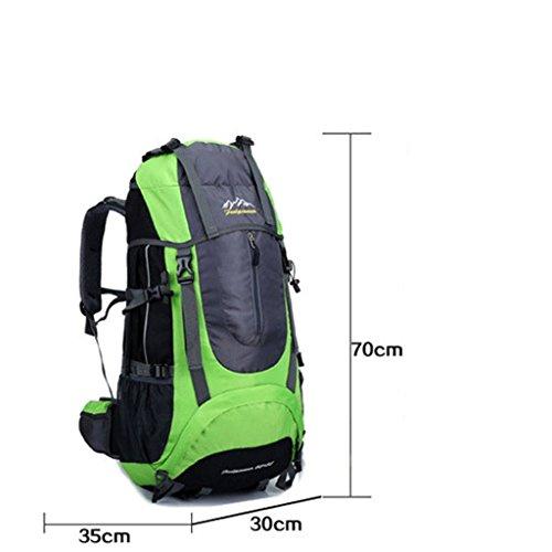 sacchetto di alpinismo di sport all'aperto borsa zaino da escursione multifunzionale singola zaino giallo