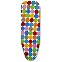 Peng Essentials Multicolour Ironing Board Cover with Extra Thick PAD (97x34cm)