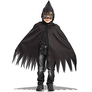 Carnival Toys - Juego arañita: capa con capucha y máscara de foami en bolsa, 70 cm, color negro (664)