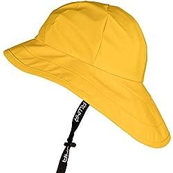 Awha Sombrero De Lluvia Unisex Con Ala Ancha Y Orejeras Amarillo
