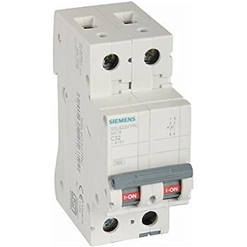 siemens 32a 2 pole miniature plastic circuit breaker (white and grey)
