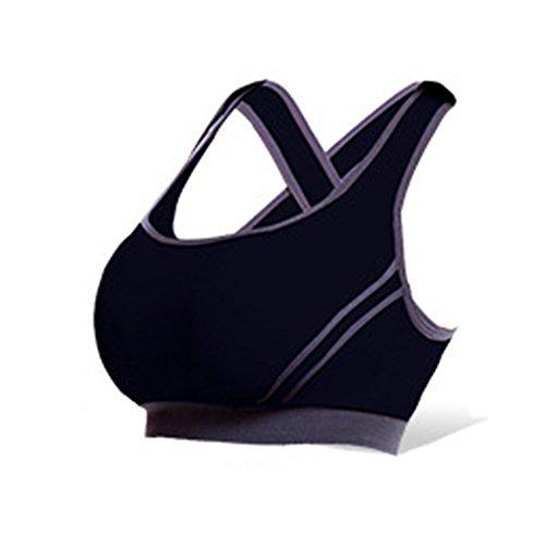 Ericoy Damen Push Up Sport-BH Lauf Yoga Weste nahtlos Fitness Sport Unterw?sche BH
