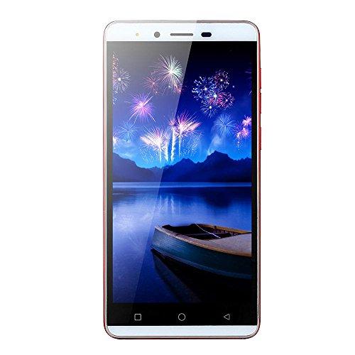 Smartphone 5.0''Ultrathin Android5.1 Quad-core 512 MB + 4G 3G / GSM WiFi Dual SIM sbloccato SmartPhone (rot)