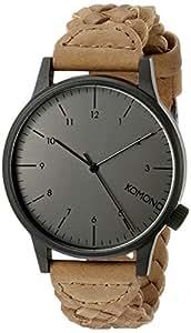 komono montre homme analogique quartz avec bracelet en cuir kom w2031 montres. Black Bedroom Furniture Sets. Home Design Ideas