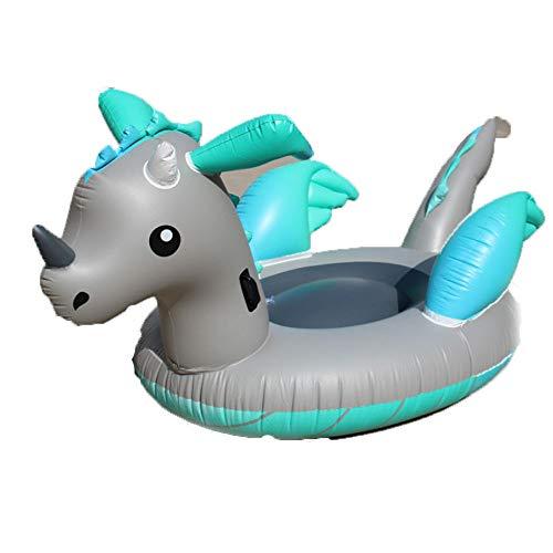 Aufblasbarer Drache-Pool-Lieder für Erwachsene Kinder 220 * 150 * 110cm,Outdoor und Indoor Vacation Beach Lounge Pool Pool Pool