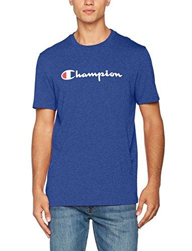 Champion Herren T-Shirt Crewneck T-Shirt - Institutionals, Blau (Zbvu), X-Large