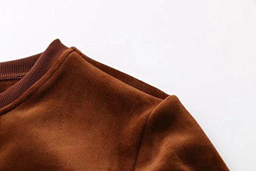 YiLianDa Costumes Sport Mode Femme Classique Velours Sweats Tops + Pantalons Joggings Survêtements 2pcs Kaki Foncé
