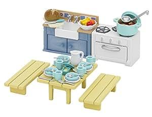 Sylvanian families rustic kitchen set toys for Kitchen set toys amazon
