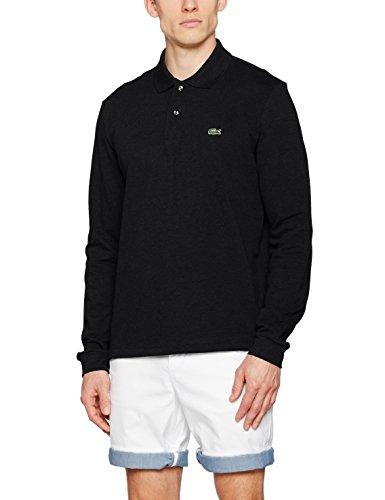 Lacoste Herren Poloshirt L1312 Schwarz (Cachou Chine)