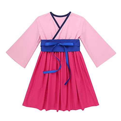 Kostüm Baby Chinesischen Traditionellen - YiZYiF Baby Mädchen China Prinzessin Kleid Chinesische Traditionelle Hanfu Kleid Cosplay Kostüm Kimono Anzug Halloween Fasching Karnevalskostüm Rosa 98-104