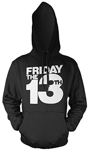 d Herren Kapuzenpullover | Freitag der 13 Halloween Horror Geschenk (4XL, Schwarz) (Jason Halloween Kostüm Ideen)
