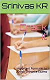 Crack it: Important Formulas to Crack Entrance Exams (English Edition)