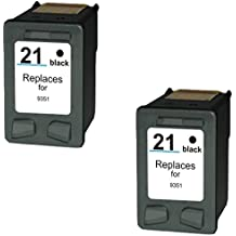 Prestige Cartridge 2 x HP 21XL Cartuchos de tinta, negro
