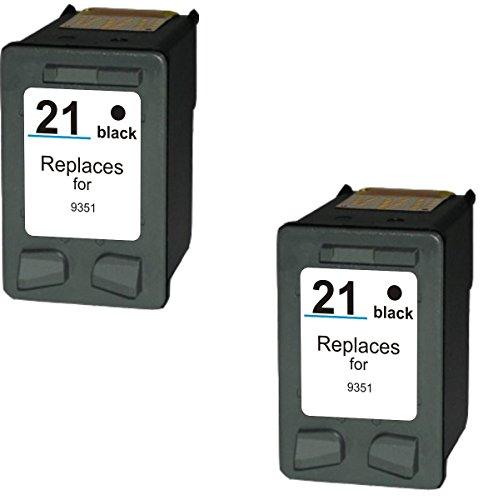 Prestige Cartridge 2 x HP 21XL Cartuchos de tinta, negro