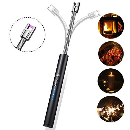 Padi Home Lichtbogen Feuerzeug, Flammloses Elektronische Feuerzeug mit LED Batterieanzeige, Aufladbar USB Feuerzeug (Wie Man Einen Holzofen)