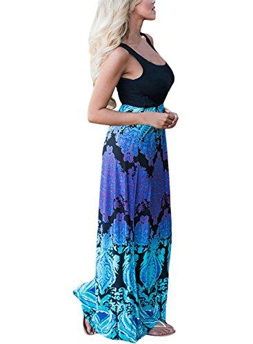 Happy Sailed -  Vestito  - Senza maniche  - Donna Blue Purple