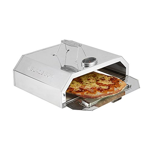 Blaze Box BBQ Pizza Oven with Temperature Gauge for Outdoor Garden Barbecues & Gas Grills (Blaze Box Pizza Oven)