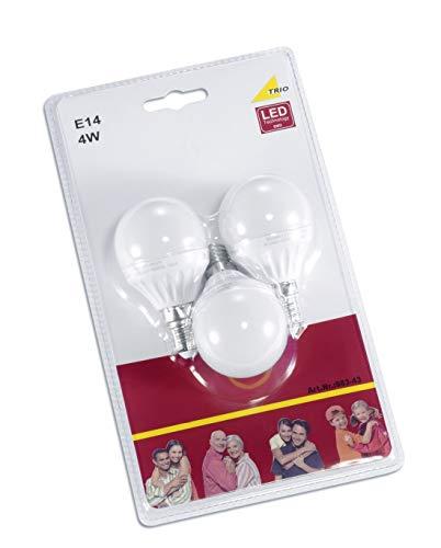 Trio Leuchten LED Leuchtmittel 3-er Blister E14 Tropfen, 4 W 983-43 -