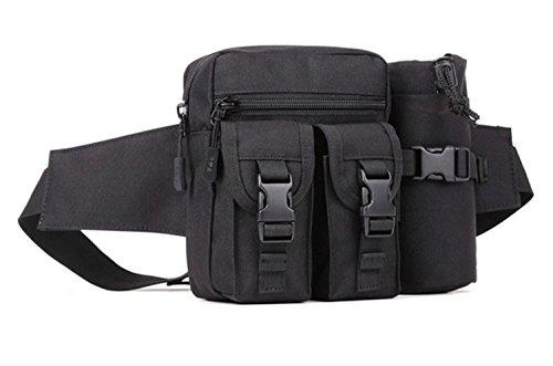 Protector Plus Männer und Frauen Kessel Taschen Outdoor kleine Reitkessel Tasche Reise Reise Taschen Freizeit kleine Brust Tasche Black