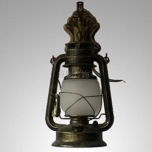 BOOTU Bougeoir LED et descendre appliques Lampes rétro, appliques murales en fer lampes à kérosène lights bar café thé appliques, comme illustré à la Figure 3 - Bleu 古