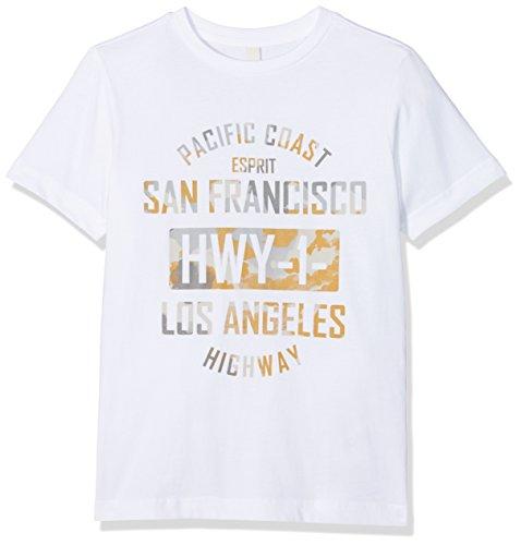 ESPRIT Jungen T-Shirt RL1025603, Weiß (White 010), 164 (Herstellergröße: L)
