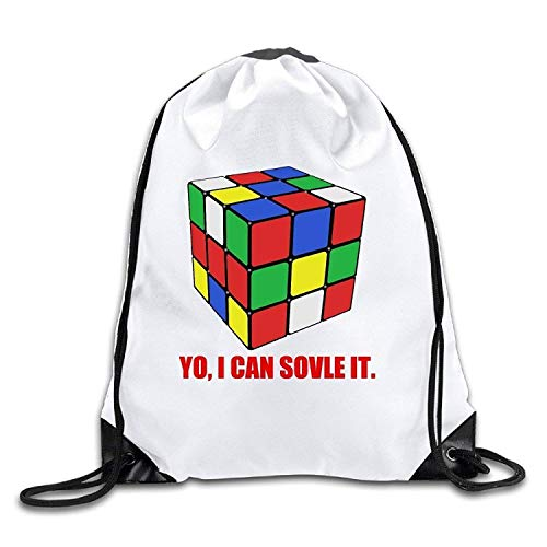 New Shorts I Can Solve It Rubix Cube 100% Polyester Fiber Drawstring Backpack Bag One Size - Herren-lacrosse Shorts