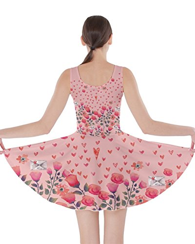 CowCow Womens Flamingo With Love Florals Double Sided Skater Dress – 3XL