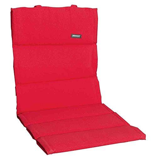 Madison 232049 Coussin pour Fauteuil Bas Coton/Polyester/Revêtement Rouge