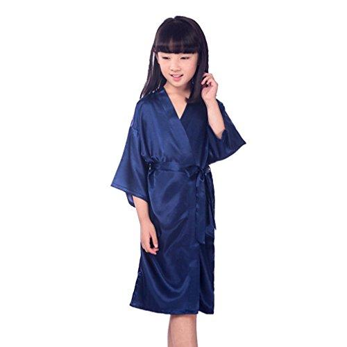 Yying Strass Kristall Blumenmädchen Satin Kimonos Roben Junior Brautjungfer Nachtwäsche (Bluse Kleidung Junior)