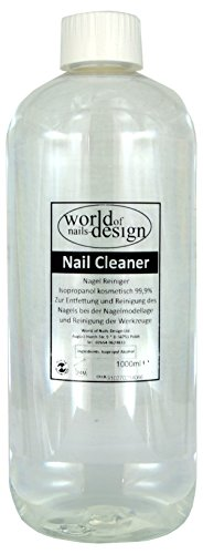World of Nails-Design Nail Cleaner 99,9% isopropanol kosmetisch, pack de 1 (1 x 1 l)