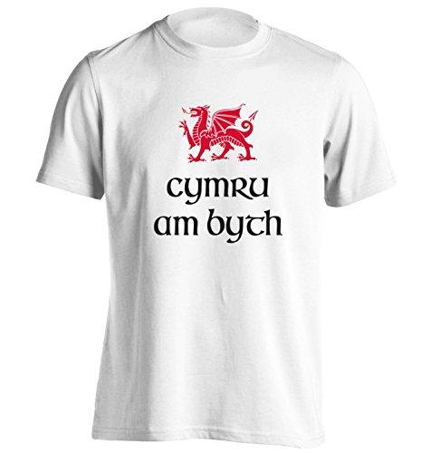 Cymru am byth T-Shirt Small - 2XL