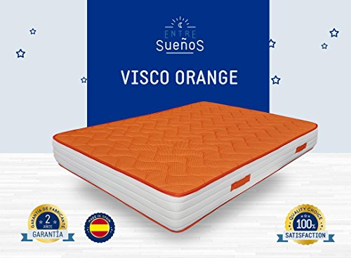 Colchn-Viscoelastico-VISCO-ORANGE-Doble-cara-tejido-stretch-con-viscoelastica-3D-ultra-transpirable-Grosor-18-cm