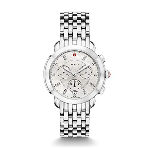 Michele Women's Swiss Quartz Stainless Steel Casual Watch, Color:Silver-Toned (Model: MWW30A000015)