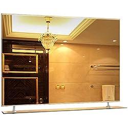"""LNDDP 23.6""""X31.4 Miroir Salle Bains Simple sans Cadre avec étagère Murale décoration la Maison Miroir Chambre ou Salon Pend Horizontal"""