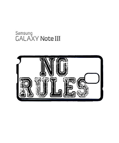 No Rules Rude Fresh ASAP Dope Funny Hipster Swag Mobile Phone Case Back Cover Coque Housse Etui Noir Blanc pour for Samsung Note 3 White Blanc