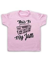 This Is My Jam Music Slogan Camiseta para Niños
