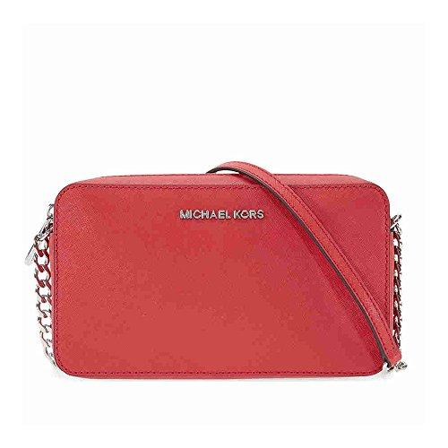 MICHAEL by Michael Kors Jet Set Travel Rosso Crossbody Borsa Bright Red