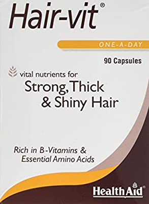 HealthAid Hair Vitamins for Hair Growth with Essential Vitamins and Minerals, 90 Capsules by HealthAid