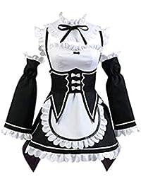 Disfraz de sirvienta de Halloween Traje de Cosplay de Anime Disfraz de Cero  Zero Negro 083498f957b5