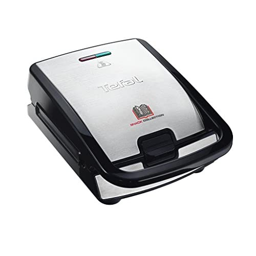 41mnbpFl4GL. SS500  - Tefal SW852D27 Snack Collection Multi-Function Sandwich and Snack Maker with Interchangeable Plates, 700 W, Stainless Steel, Black