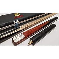O'Min Snooker Set Cue and Case * 3/4 Piece Handmade Snooker CUE * Aluminum/Ecoleather Case * Minibutt