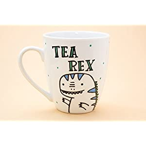 Tea Rex - ceramic mug - Hand dec
