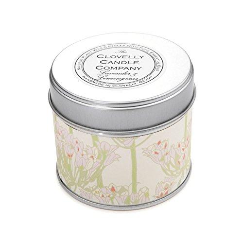 Clovelly Candle Co. Natürliche Handgefertigte Duftende große Dosenkerze Lavendel & Zitronengras aus Sojawachs
