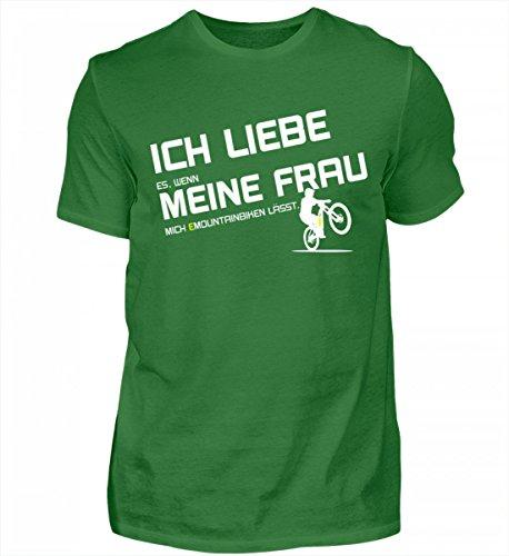 Shirtee Hochwertiges Herren Organic Shirt - eBike und EMTB Shirt