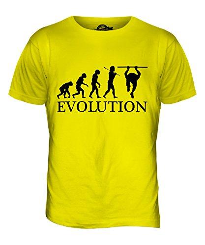 CandyMix Calisthenics Evolution Des Menschen Herren T Shirt Zitronengelb